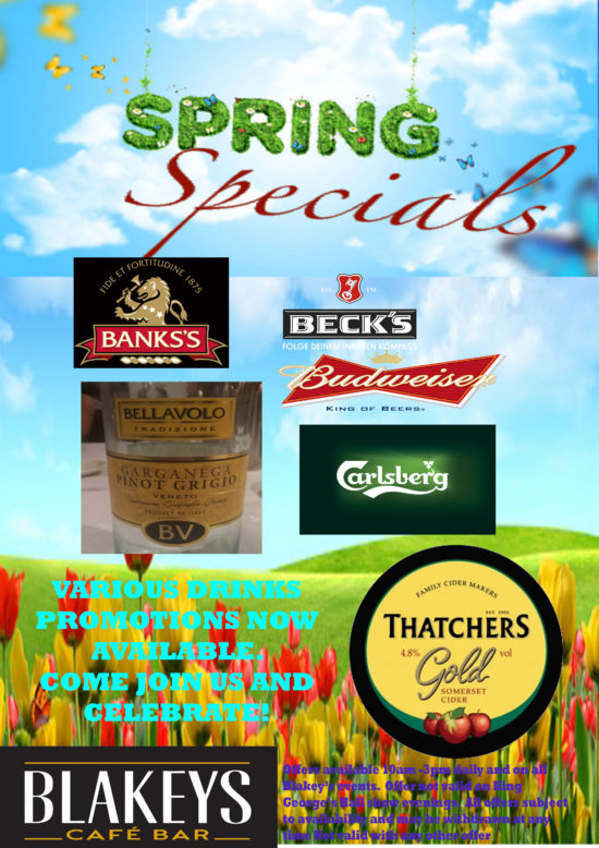 blakeys drinks promo spring